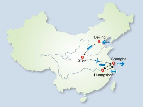 11 Days Group Tour to Beijing- Xi'an-Mt Huangshan-Shanghai
