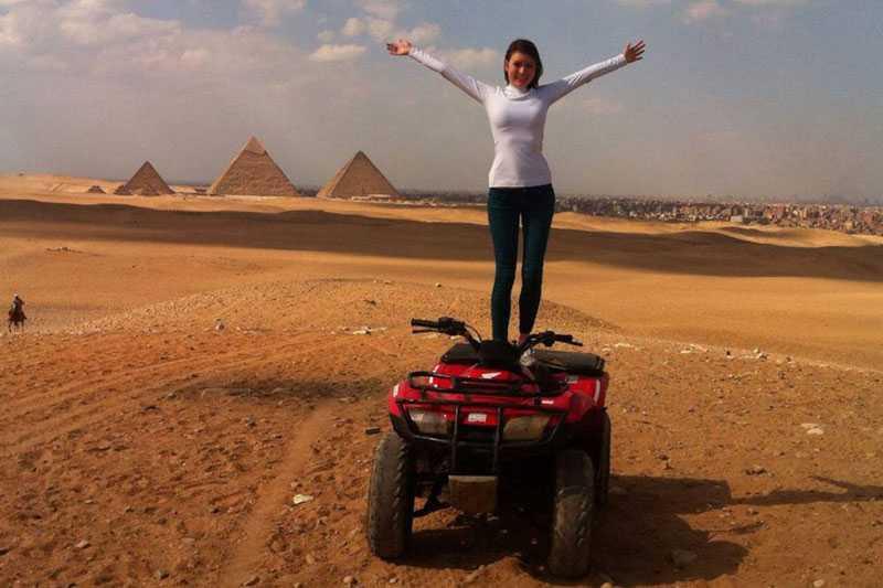1-Day Desert Safari by Quad Bike Around the Pyramids